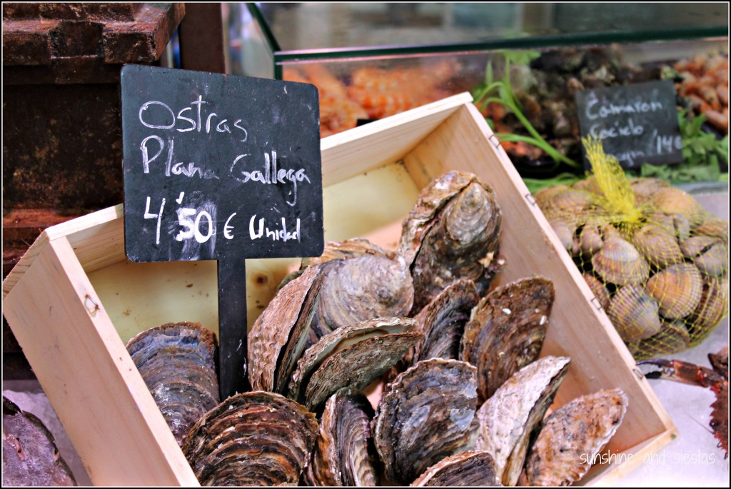Oysters at the Mercado San de San Miguel, Madrid. Photo courtesy Sunshine & Siestas
