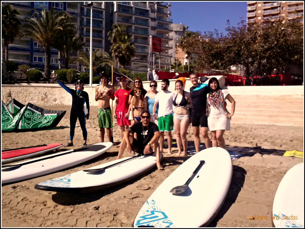 group paddle surfing in calpe