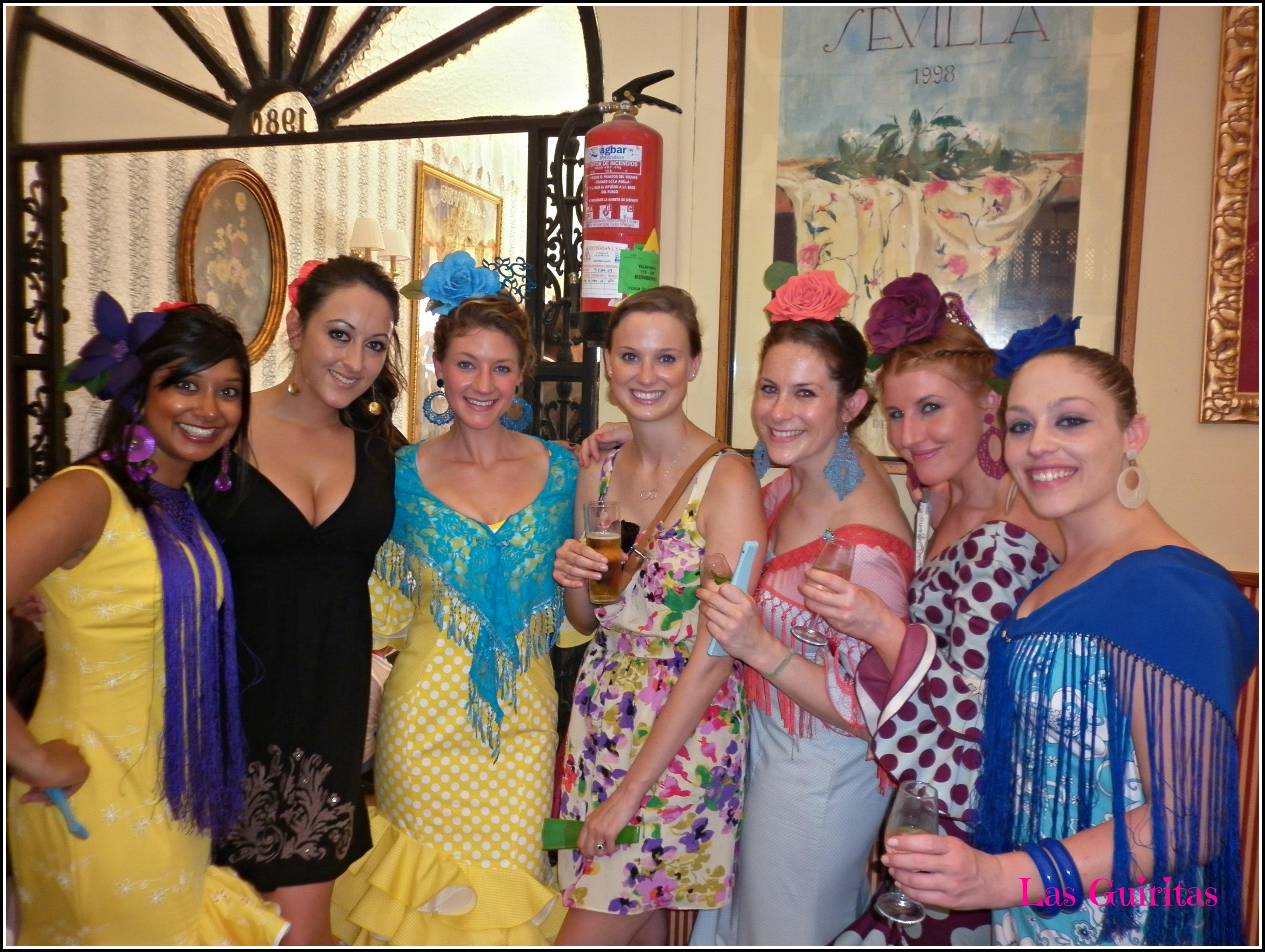 e956b03f0f2 spanish american girls at the feria de sevilla