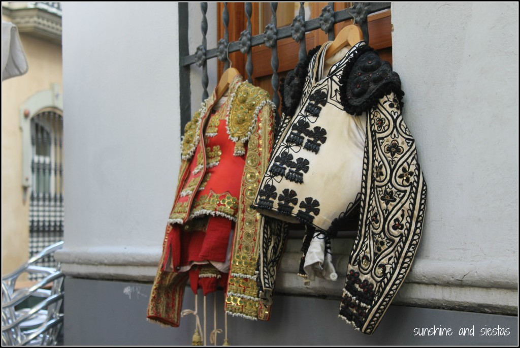 Bullfighter Jackets, El Mercadillo el Jueves, Sevilla. Photo courtesy Sunshine & Siestas