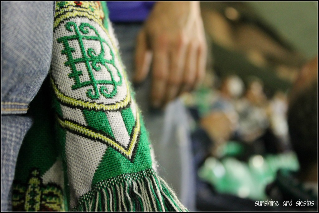 Betis scarves at Villamarin