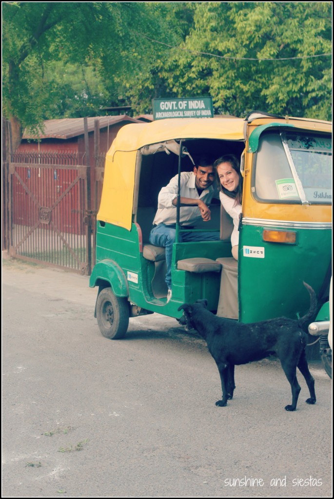 driving a tuk tuk in India