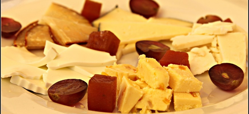 produce and cheese on Canary Islands
