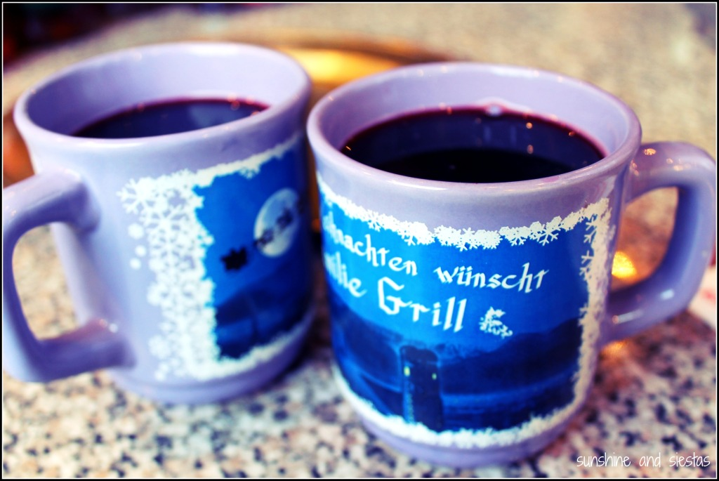 The delicious gluhwein