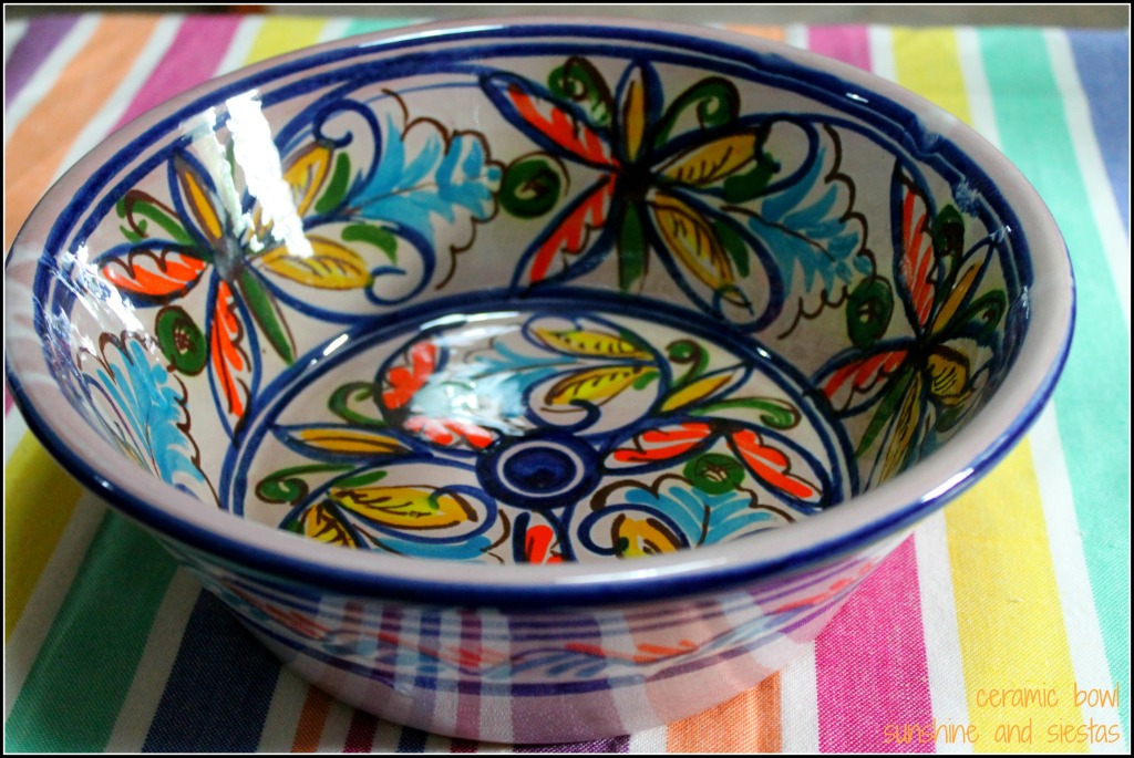 cesta de navidad ceramics
