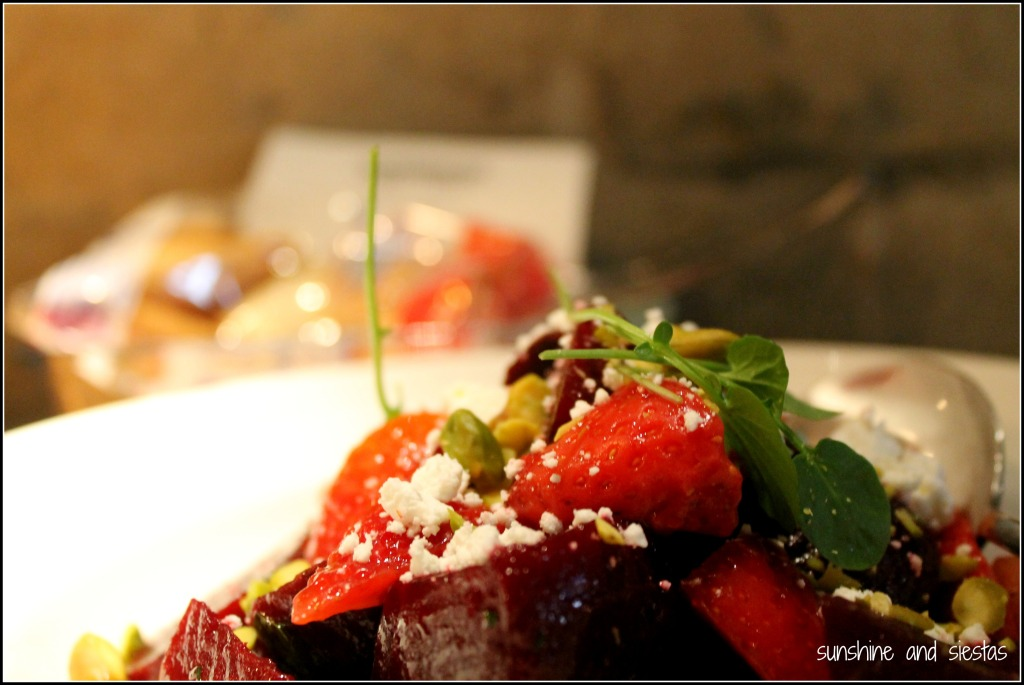 strawberry and beet salad Mamarracha