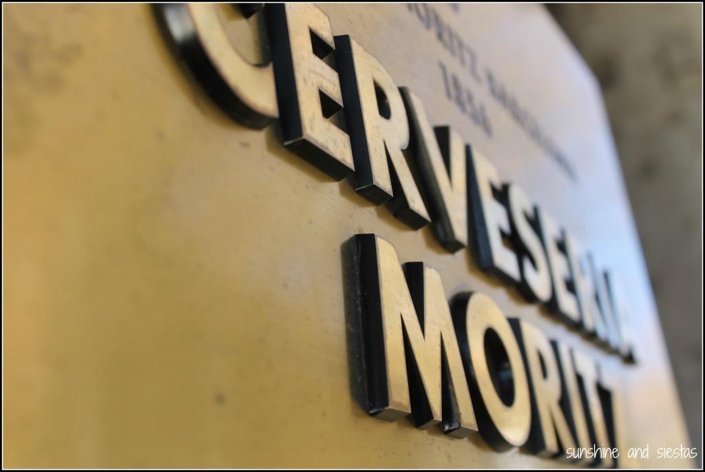 visiting Cerveceria Moritz in Barcelona