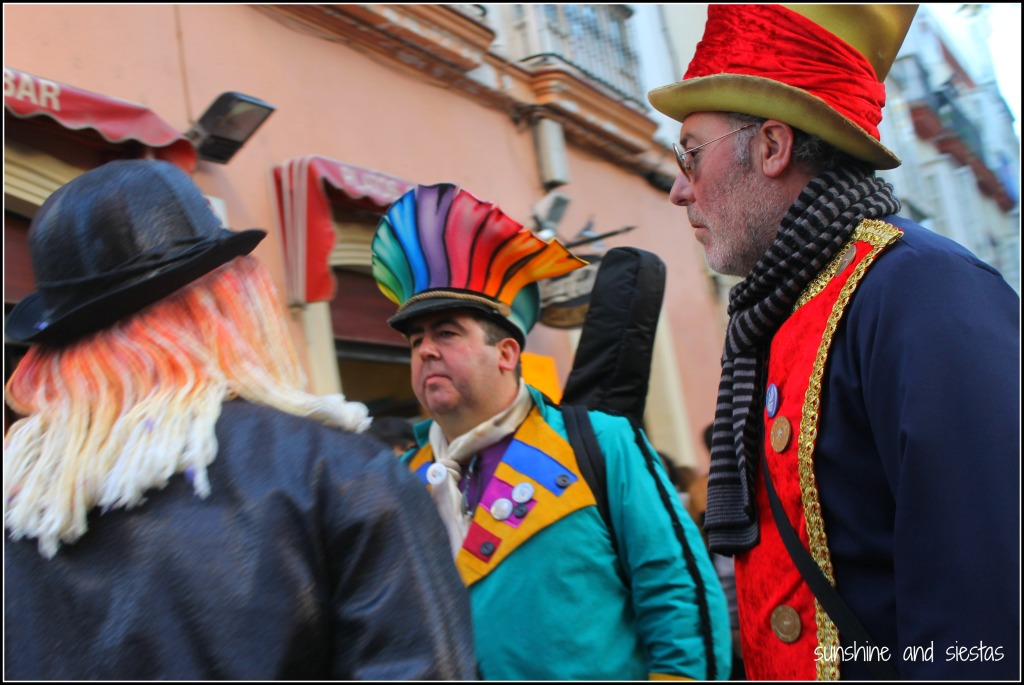 Crazy costumes at Cadiz carnavales