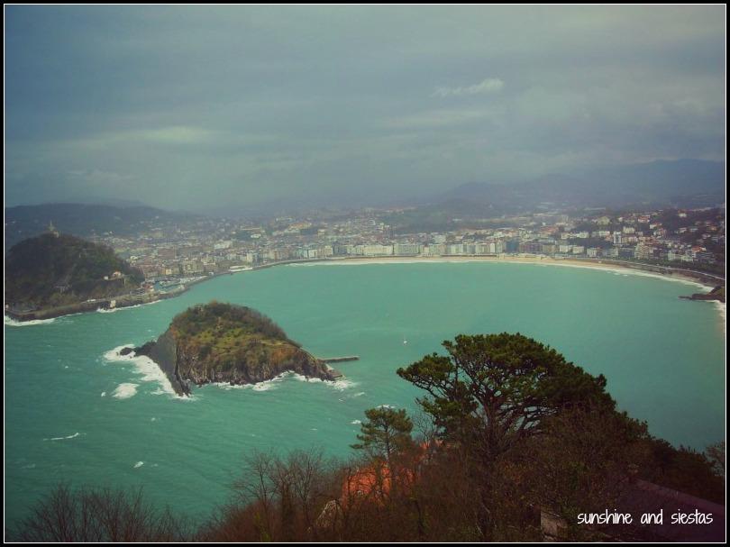 Aeriel view san sebastian