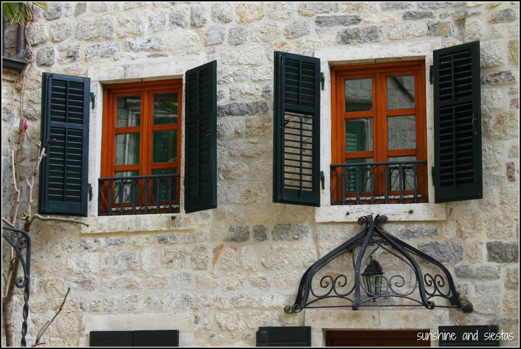 Shutters in the center of Kotor