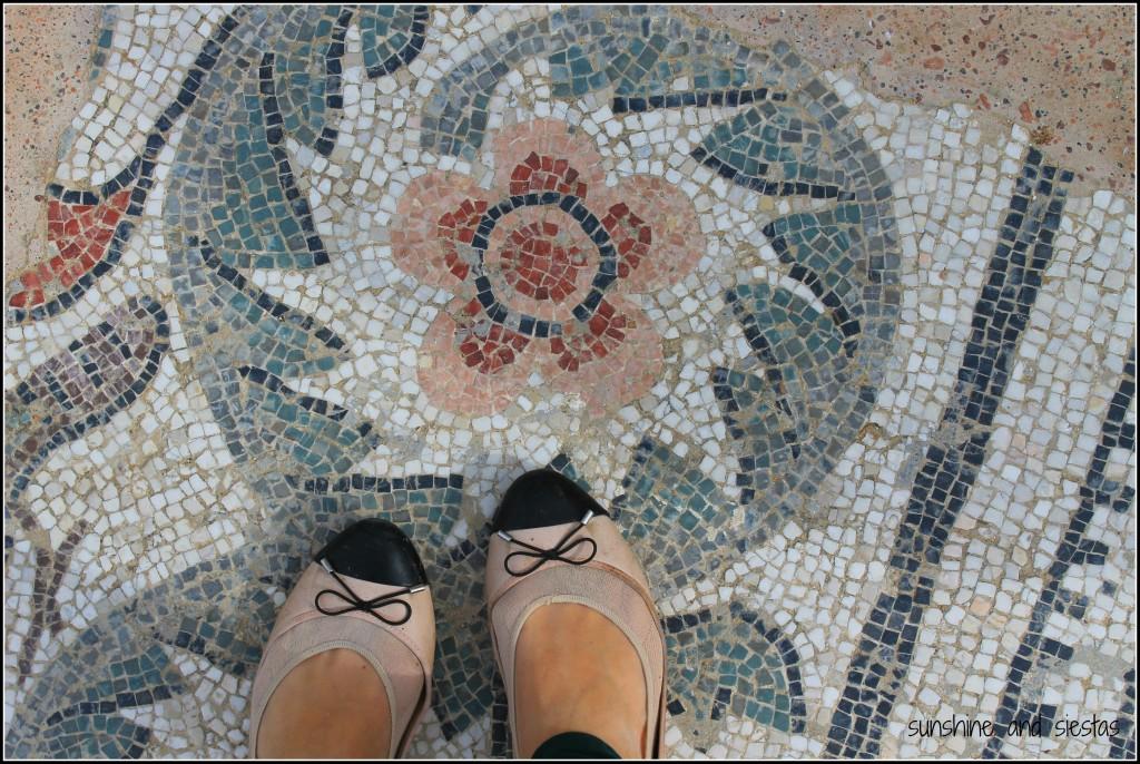 mosaics at Villa Casale Romana