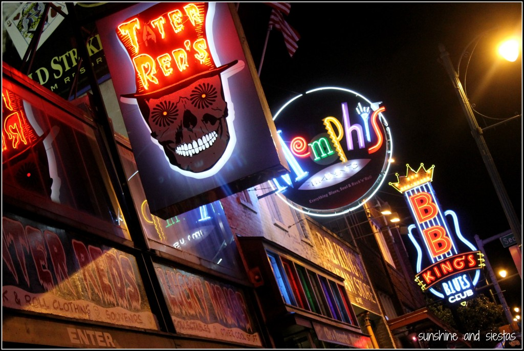 Beale Street Memphis signs