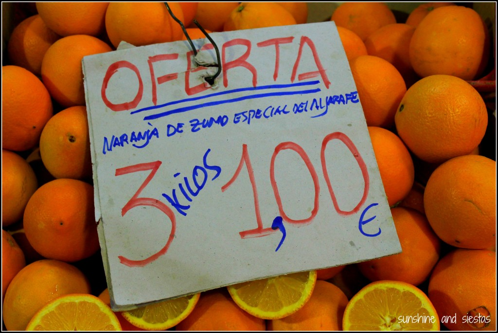 Winter fruits in Spain oranges and clementines
