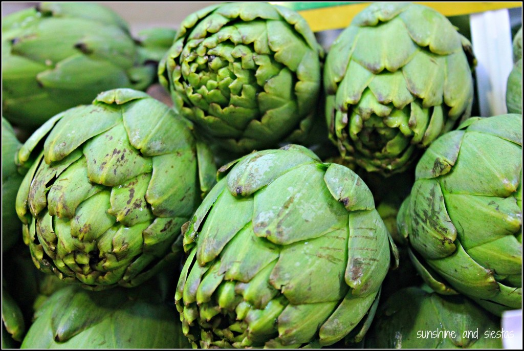 winter food in Spain artichokes