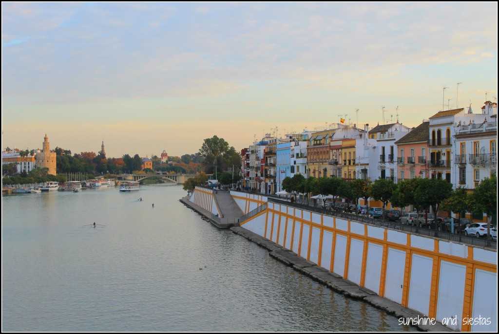 view of Triana and the Guadalquivir from Puente de Triana